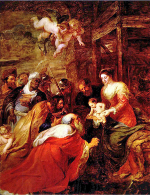 Adoration of the Magi, by Peter Paul Rubens, c. 1634