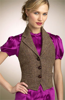 Trina Turk 'Spencer' tweed vest