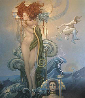 surrealistic representation of Venus