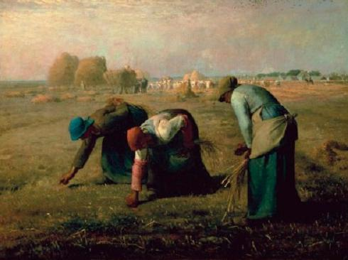 French painter Jean François Millet stirred social controversy in this 1857 painting, The Gleaners.