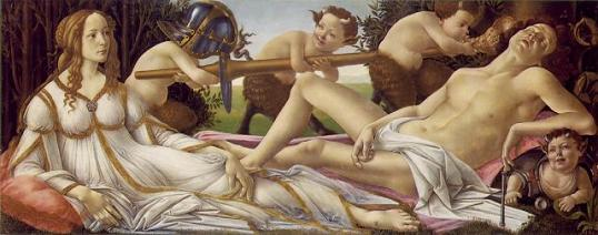 Botticelli's Mars and Venus