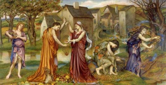 The Cadence of Autumn, by Evelyn De Morgan, 1905