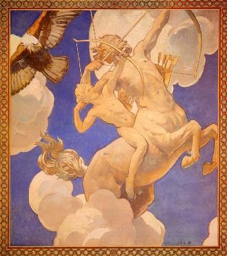 Chiron and Achilles, by John Singer Sargent