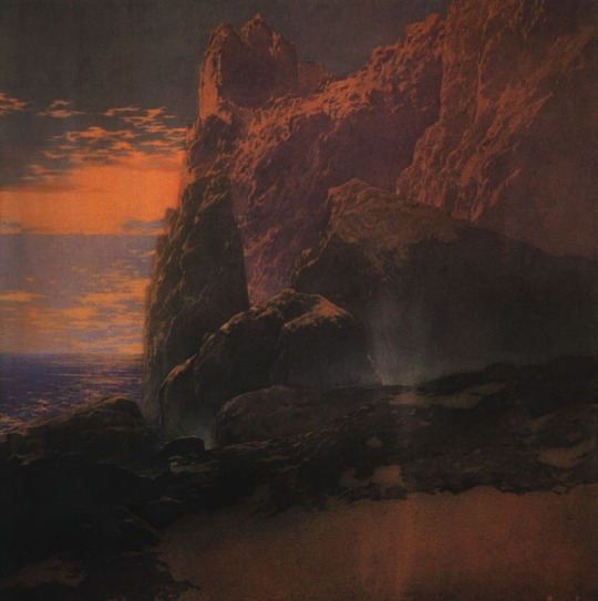Tempest, by Maxfield Parrish