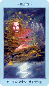 Jupiter - Wheel of Fortune card from Celestial Tarot