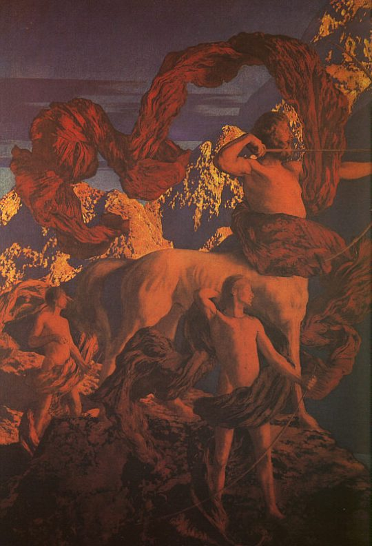 Jason and his Teacher, by Maxfield Parrish