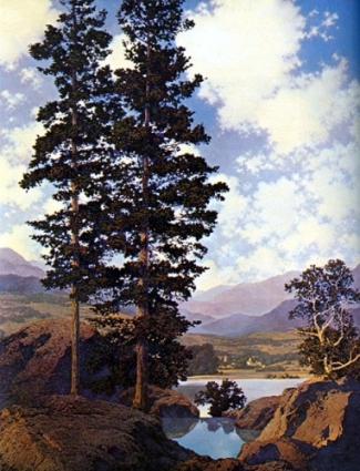 Thy Templed Hills, Maxfield Parrish