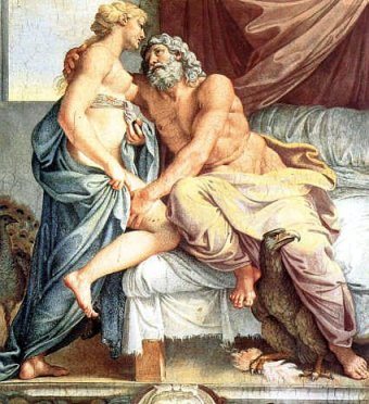 Jupiter and Juno, by Carracci