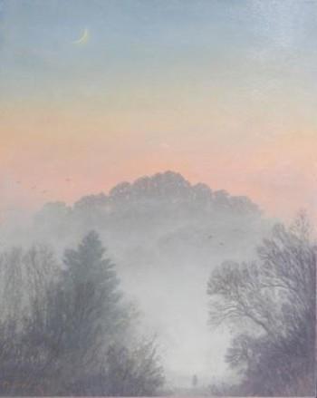 Moon Rising Mist Descending by Steve Outram