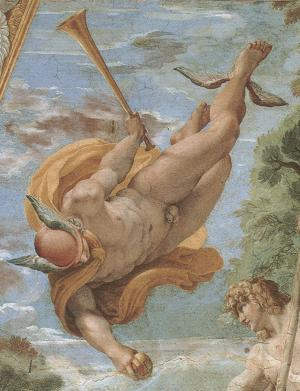 Detail of Farnese Gallery ceiling in Rome, by Annibale Carracci