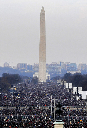Obama's first inauguration, 2009. Image credit: Senior Master Sgt. Thomas Meneguin, USAF