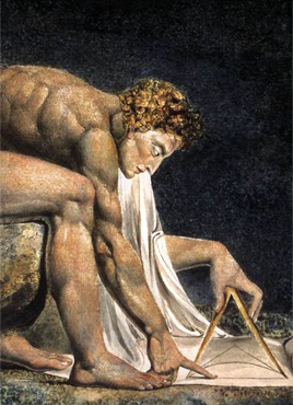 Detail of Newton, by William Blake, 1795-1805.