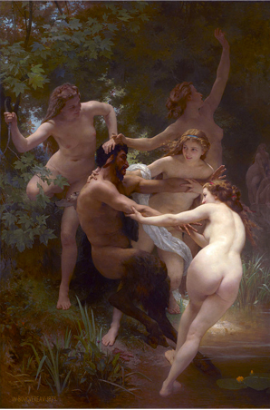 Nymphs and Satyr,  by William-Adolphe Bouguereau, 1873. OK, so this guy knows how to party, but you will never convince me that Sagittarius looks like this.