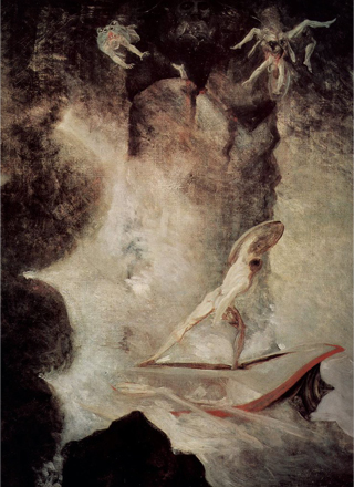 Odysseus in front of Scylla and Charybdis, by Henry Fuseli, c. 1795