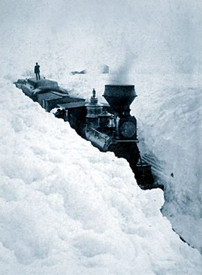 Snowstorm in southern Minnesota in March 1881.
