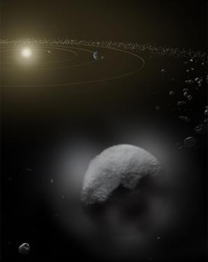 Artist's conception of Ceres. Image credit: ESA/ATG medialab.