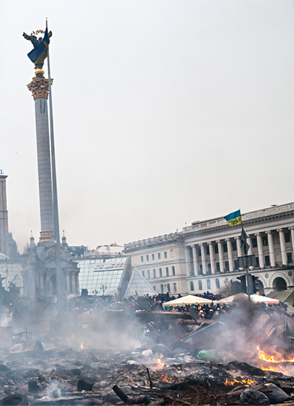 Anti-government protests in Kiev, November 2013. © Mykhaylo Palinchak/Dreamstime.com.