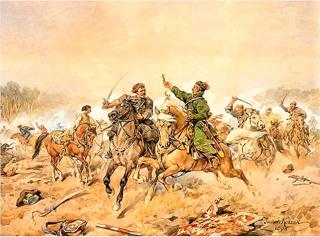 Battle of Lachowicze, by Juliusz Kossak