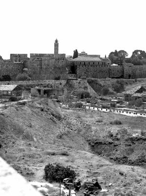 No man's land in Jerusalem between Israel and Jordan. Photo taken c. 1964 by Etan J. Tal.