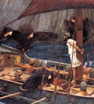 Seatbelt required. Ulysses and the Sirens, by John William Waterhouse, 1891.