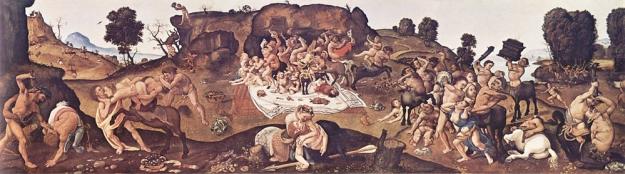 Centauromachy by Piero_di_Cosimo c 1500 med